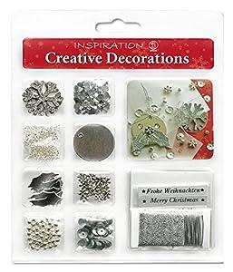 Ursus Creative Decorations - Pack de Adornos, Color Plateado