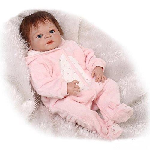 ZIYIUI 45 cm Realista Muñeca de Silicona Completa Reborn Baby Doll 18 Pulgadas Realista Muñeca Silicona Vinilo Recién Nacido Bebé Muñecas Chica