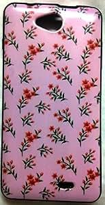 Premium Fancy Back Cover For INTEX AQUA LIFE III / AQUA SENSE 5.0 - Pink Design