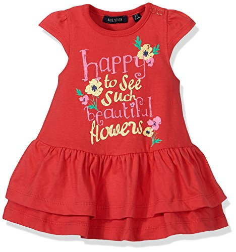 Blue Seven Baby-Mädchen Wirkkleid RH Kleid, (HL Rot 308), 74 (Fee Rote Kleid)
