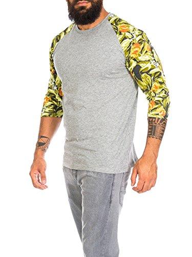 Jack & Jones Herren T-Shirt jjorFilur L/S Tee 12105083 Grau