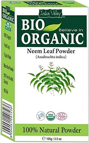 Bio 100{3a0da091622709e7ff70a04722d1e02200e1d21e242b9cec3e15def7e00a34c5} natürliches Neem Blattpulver mit Gratis Rezeptbuch 100g (Neem Leaf Powder)