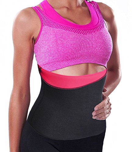 Hot Thermo Sweat Belt, Slimming Taillenmieder Bauchweggürtel Body Girlde Rose Red(Local Seller)