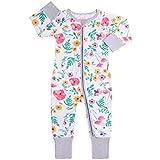 Baby Overalls Mädchen Schlafanzug Baumwolle Stramper Spielanzug Langarm Body Reißverschluss 3-6 Monate