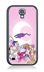 Case Schutzrahmen hülse Sailor Moon Cartoon Hit SM7 Abdeckung für Samsung S4 mini Border Gummi Silikon Tasche Schwarz @pattayamart