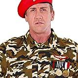 Amakando Armee Orden Abzeichen - 3er Set - Veteran Dienstgradabzeichen General Soldatenkostüm Offizier Ehrenmedaille Kriegsheld Army Kostüm Accessoire Militär Rangabzeichen