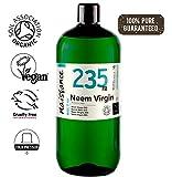 Naissance Aceite Vegetal de Neem Virgen BIO n. º 235 - 1 Litro - Puro, natural, certificado ecológico, prensado en frío, vegano y no OGM.