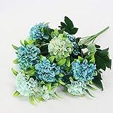 ZTTLOL Künstliche 10 Kugelköpfe Hortensien Daisy Silk Simulation Bouquet Gefälschte Blumen Hochzeit Dekoration Party Dekoration