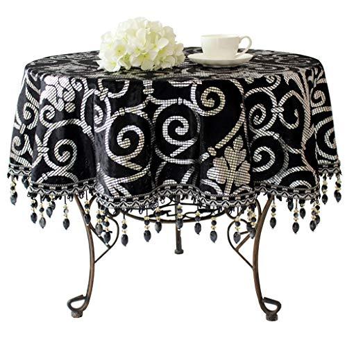 Schwarze Europäische High-End-Mode Luxus Tischdecke Stoff Benutzerdefinierte Hotel Konferenz Runde...