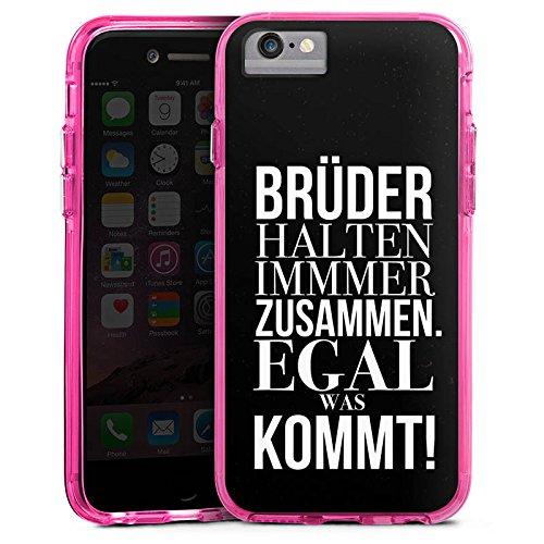 Apple iPhone 7 Bumper Hülle Bumper Case Glitzer Hülle Brother Bruder Amour Bumper Case transparent pink
