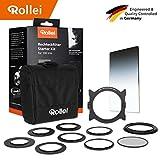 Rollei Rechteckfilter Mark II Starter Kit für 100 mm - Passend für Optiken mit Filtergewinden von 52, 55, 58, 62, 67, 72, 77 und 82 mm, Inkl. 1 Rechteckfilter Mark II, CPL Filter und Easy Lock System