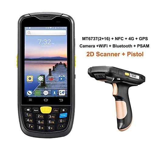 Android Data Collector Terminal Robustes PDA 1D 2D Barcode Wireless Scanner 4G WiFi Bluetooth GPS NFC Lagerdatenerfassung,2DwithPistolGrip -