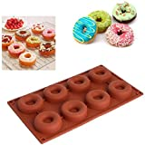 Selecto Bake - 8 Cavity Silicone Mini Donut Pan Muffin Cups Cake