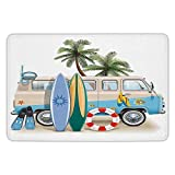 BagsPillow Bathroom Bath Rug Kitchen Floor Mat Carpet,Surf,Surfing Weekend Concept...