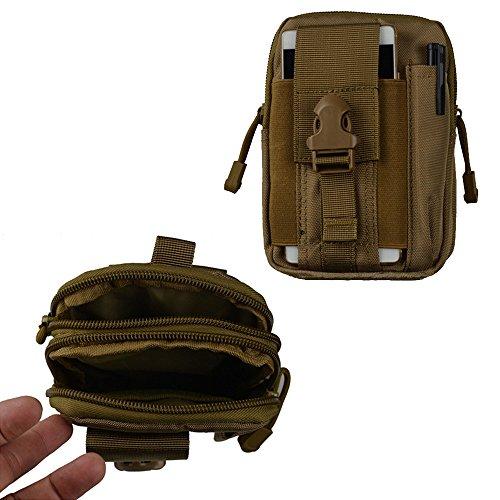 Cheerlife Multifunktional wasserdicht 600D Nylon Molle taktische Hüfttasche EDC Gürtel Beutel Handytasche Beintasche Geldbeutel für Outdoor Sport Camping Wandern Armee Grün