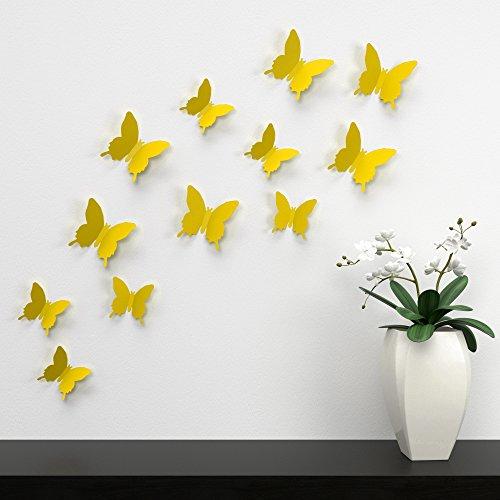 3dtrends-farfalle-colorate-da-incollare-sul-muro-rimovibili-12-pezzi-giallo