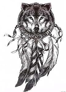 wolf traumf nger tattoo schwarz arm oberarm tattoo auch. Black Bedroom Furniture Sets. Home Design Ideas