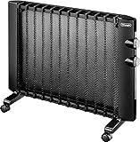 DeLonghi HMP 1500 Calentador de ambiente, Eléctrico, Giratorio, Montaje de pared, 2 niveles de potencia, 1500 W, negro