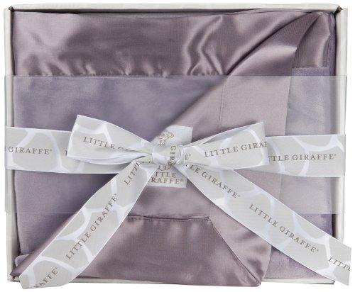 Little Giraffe Blanket in a Box Velvet Deluxe (Lavender)