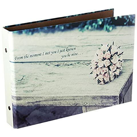 [Fujifilm Instax Mini Photo Album] - CAIUL 50 Pages DIY Album pour Mini 70 7s 8 8+ 9 25 26 50s 90/Pringo 231/Instax SP-1/ Polaroid PIC-300P Z2300 Films (Fleurs) - Snap Pagina Protezioni