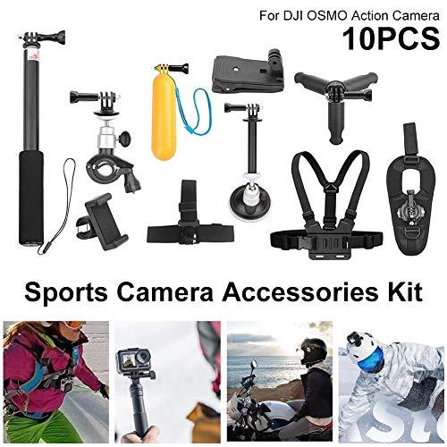 Action Kamera Zubehör Kit 10 Stücke Sport Cam Zubehör Kit Bundle Für DJI OSMO Schwimmen Rudern Klettern Fahrrad Reiten Camping Und Mehr Zubehör Cam Bundle
