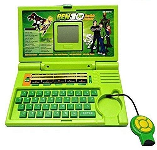 Techno Hight® Kids Fun English Learner Educational Laptop for 20 Fun Activities Enhanced Skills of Children Premium Quality Kids Educational Purpose for Boy & Girls Best English Learner Laptop