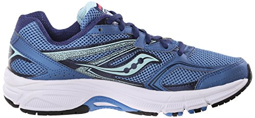 Saucony Cohesion 9 W, Baskets Basses Femme Blue/Light Blue/Coral