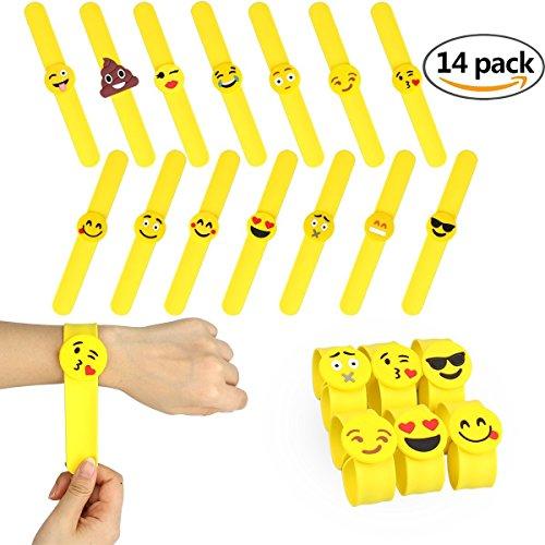 nicebuty-14-pcs-emoji-braccialetti-a-sbattere-gomma-delle-forniture-di-festa-bracciale-in-gomma-dei-