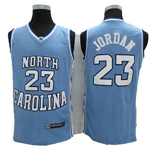 BALL-WHJ NBA 23# Michael Jordan Universitätsausgabe Von North Carolina Vintage All-Star-Trikot, Männer-Trikot Frauen-Trikot-Basketball-Shorts T-Shirt,M:175cm/65~75kg