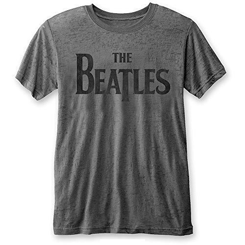 The Beatles Rock Icon Marken Classic Tongue Logo Herren T-Shirt Grau (S-XL) (L)