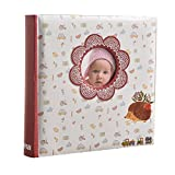 Premium Unisex Baby-Erinnerungsbuch von Arpan –Fotoalbum mit 200Taschen für 15,2x 10,2cm Fotos–Taufe Prints–mit Fenster–Ideal Baby Shower Geschenk für Jungen und Mädchen mit CD- oder DVD-Tasche.