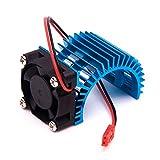 1pièce Bleu Moteur dissipateur thermique with 5V Ventilateur Aluminium pour 1/10RC Car 540Moteur Renforcer