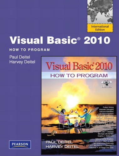 Visual Deitel Basic (Visual Basic 2010 How to Program)