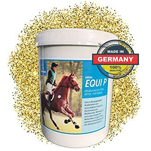 EMMA ⭐ Equi P I MSM-Pulver Pferd I Glucosamin I Chondroitin I für Gelenke & Bewegungsapparat I Plus Ingwer, Weidenrinde für Pferd & Pony 750 gr