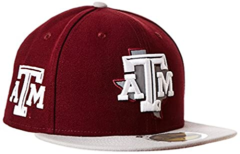 NCAA Texas A&M Aggies State Flective Redux 59FIFTY Fitted Cap, 7, Red