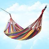 Amaca da Campeggio Giardino da Viaggio Ultraleggera Capacità di Carico 140 kg Traspiranteo (Rainbow Red)
