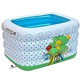 Bañera plegable Bebé Piscina Inflado Aislamiento De La Bañera Aumente El Niño Más Grueso Bola Del Mar Bañera inflable, barril de baño ( Tamaño : 140*102*78CM )