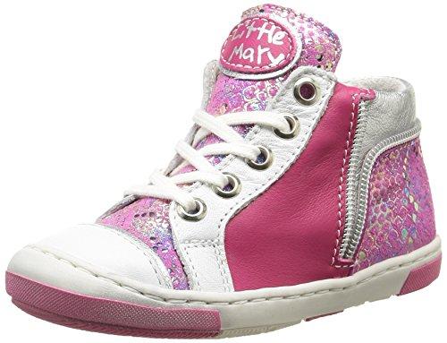 Little MaryShana - Sneaker Bambina, Rosa (Miror Passion), 32