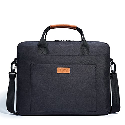 KALIDI Laptop-Umhängetasche, Laptop, Umhängetasche, Tragegriff, für Alienware MacBook, Thinkpad, Acer, ASUS, Dell, Lenovo, Sony, Toshiba, HP Laptops, Chromebook Ultrabook (bis zu 17 Zoll) (Schwarz)