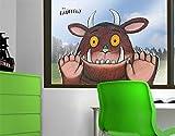 Fenstersticker Grüffelo Ist neugierig Kinder Zimmer Kinderbuch Monster Maus Fenstersticker Fensterfolie Fenstertattoo Fensterbild Fenster-Deko Fensteraufkleber Fensterdekoration Glas-Sticker Größe: 29cm x 40cm