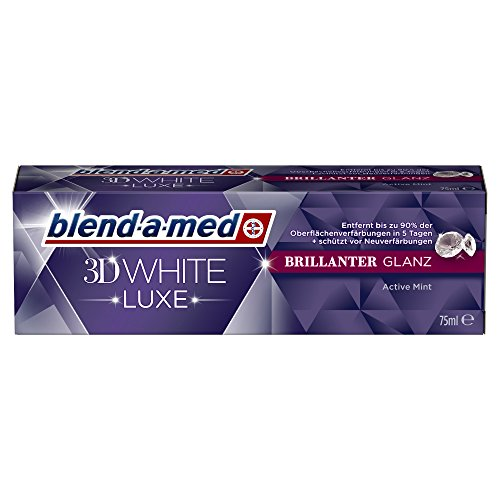 Blend-a-med 3D White Luxe Brillanter Glanz Aufhellende Zahnpasta, 75 ml