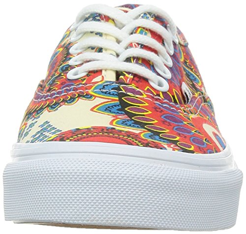 Vans - U AUTHENTIC SLIM (WASHED) LEOPAR, Sneakers a collo basso da donna Rosso(Rot)