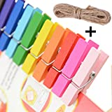 #8: Desi Rang™ Wooden Color Clips 25 Nos, 35 mm (3.5 cm or 1.37 inch) For Art Craft Photographs, Pegs, Hanging Picts, Photo, DIY decoration in room home
