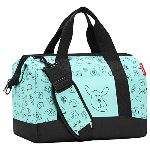 reisenthel Allrounder M, kids cats and dogs, mint, Maße 40 x 33,5 x 24 cm, Volumen: 18 l