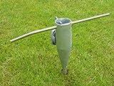 Sonnenschirmhalter / Sonnenschirm Halter / Schirmhalter Metall / Erdspieß zum Eindrehen / Wäschespinne Halter / Standfuß / Masthalter, Einschraub Bodenhülse Metall