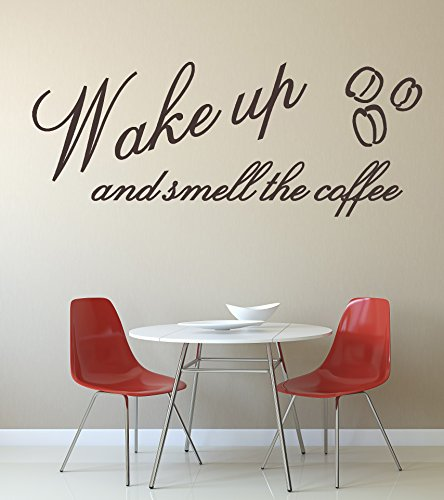 Wake Up and Smell the Coffee\' Quota. Autoadesivo della parete del ...