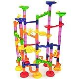 SUNREEK 105 Stücke Marmor Run Eisenbahn Labyrinth Bälle Spielzeug Kind Blöcke Spielzeug, Kinder Geschenk kinder Spielzeug