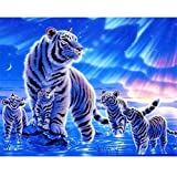 WACYDSD Puzzle 1000 Teile Weißer Tiger Classic Puzzle DIY Kit Holzspielzeug Unique Gift Home Decor
