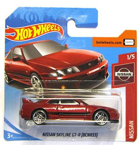 Hot Wheels FYD17 - Nissan Skyline GT-R R33 (BNR33) metallic rot (Nissan 1/5)
