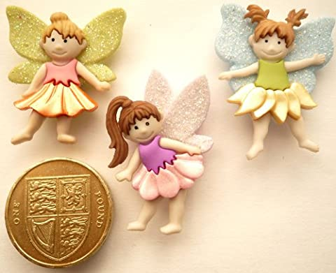 Flower Fairies Novelty Craft Buttons & Embellishments by Dress It Up by Jesse James